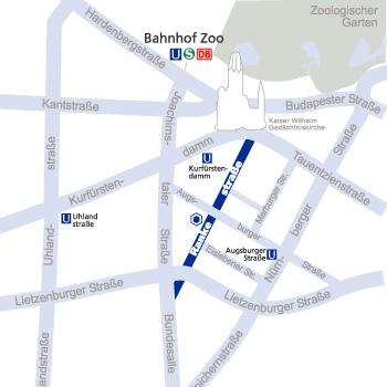 Anfahrtskizze zu Hamann & Partner, Berlin, Wirtschaftsprüfer, Steuerberater, Rechtsanwalt